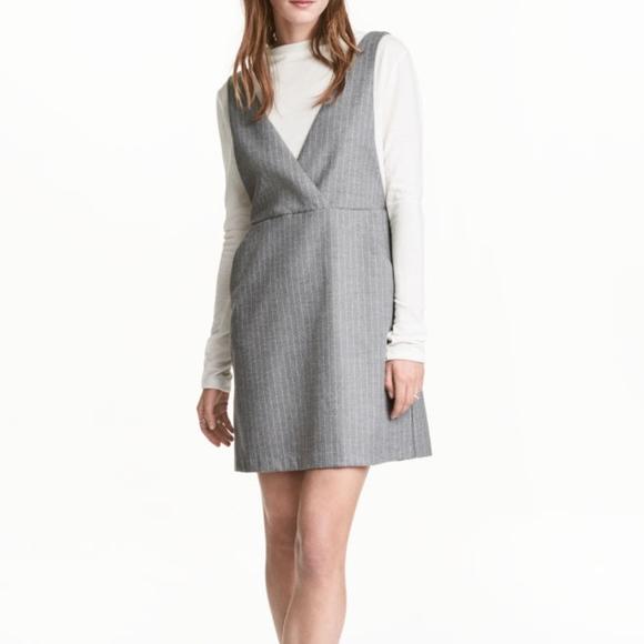 addd0b201255 H&M Dresses | Nwot Hm Pinstripe Pinafore Dress | Poshmark